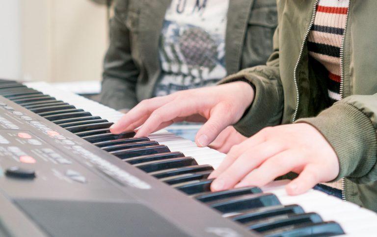keyboard, keyboardles, Muziekschool Krimpen