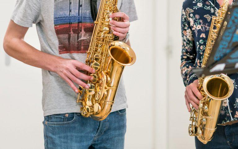 saxofoonles, saxofoon, Muziekschool Krimpen