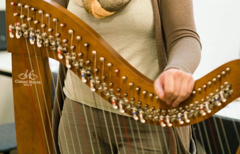 harples, harp bij Muziekschool Krimpen