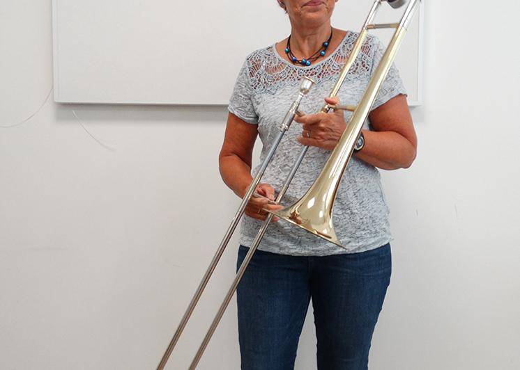 tromboneles, trombone, Muziekschool Krimpen