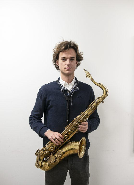 saxofoondocent Patrieck Bonnet, muziekles
